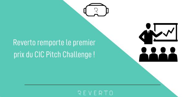 REVERTO remporte le premier prix du CIC Pitch Challenge !